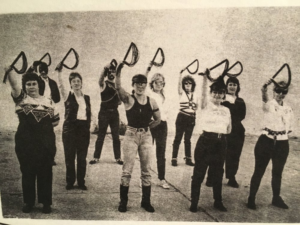 Image: Precision Whip Drill Team, Photo Copyright 1987 by Michael Rosen. Leather Archives and Museum, Chicago, IL.