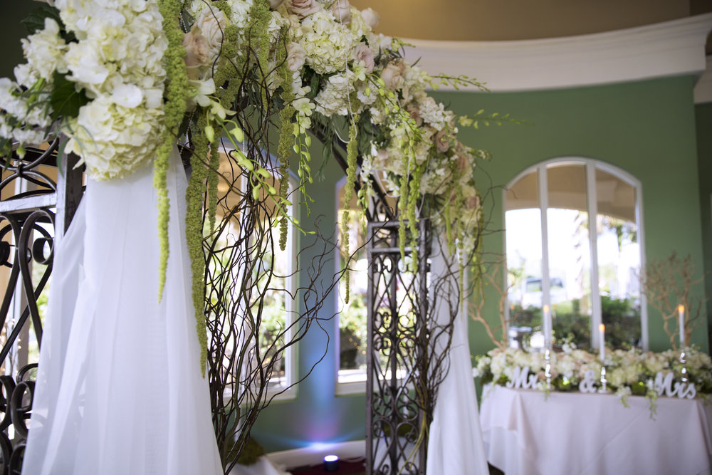ARCH DECOR - $150 - $800+ARCH RENTAL $150+ROSE PETAL DECOR $75+