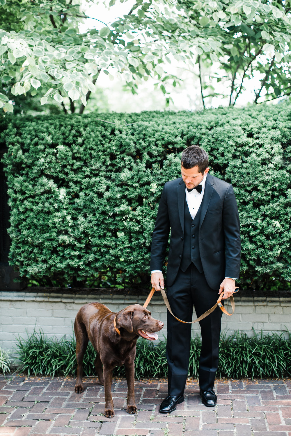 Groom and his dog