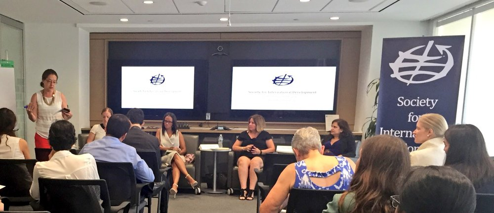Leading an education for development panel at SID