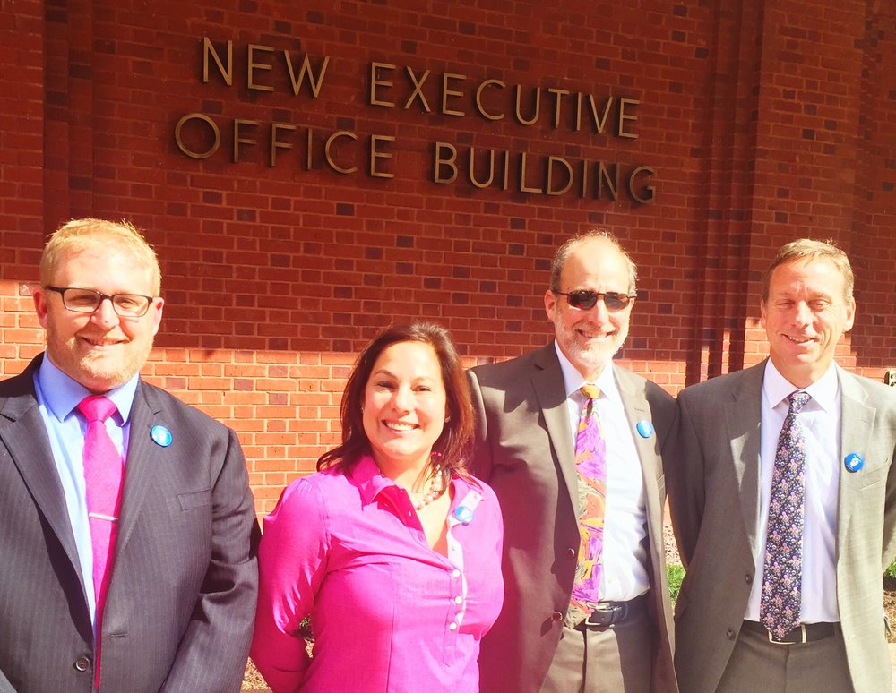 Kevin Rachlin (BEC), Jessica Kruvant (Creative Associates), Jerrold Keilson (AIR), and Dan Stoner (Save the Children) at the Executive Office Building for our annual meeting with the Office of Management and Budget.