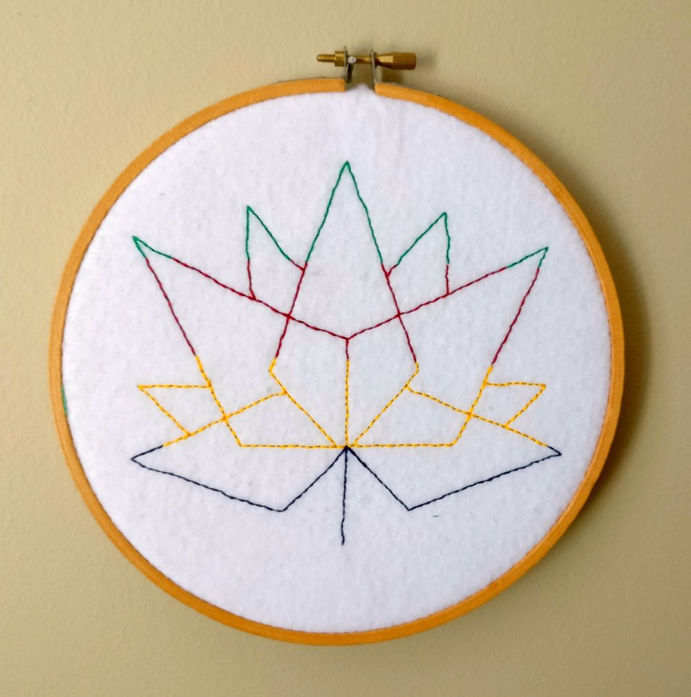 Free embroidery Canada 150 Hudson Bay