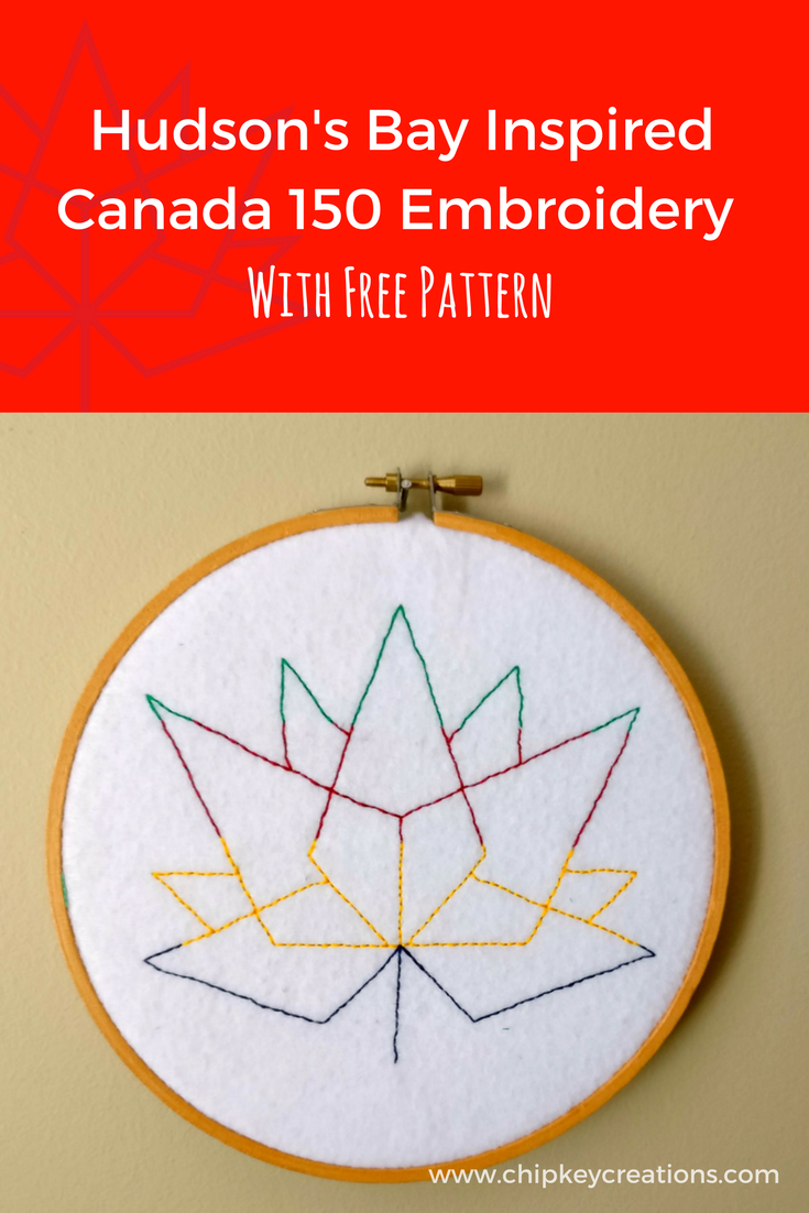 Hudson bay Canada 150 Embroidery free