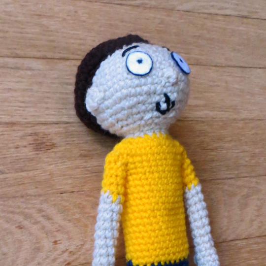 Morty Crochet Side View