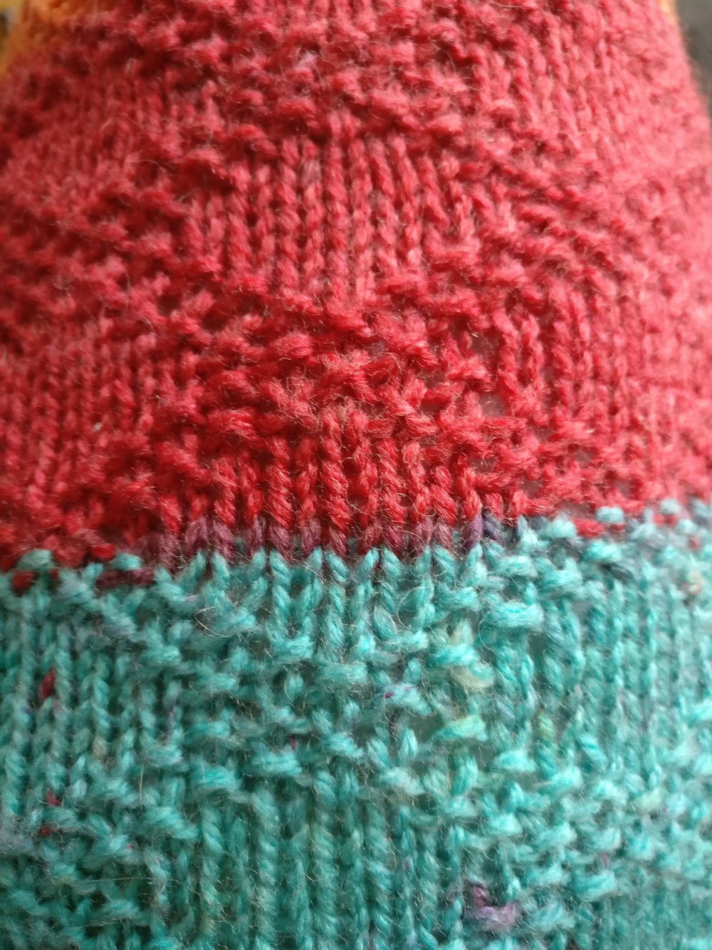 Close Up of Knit Pattern