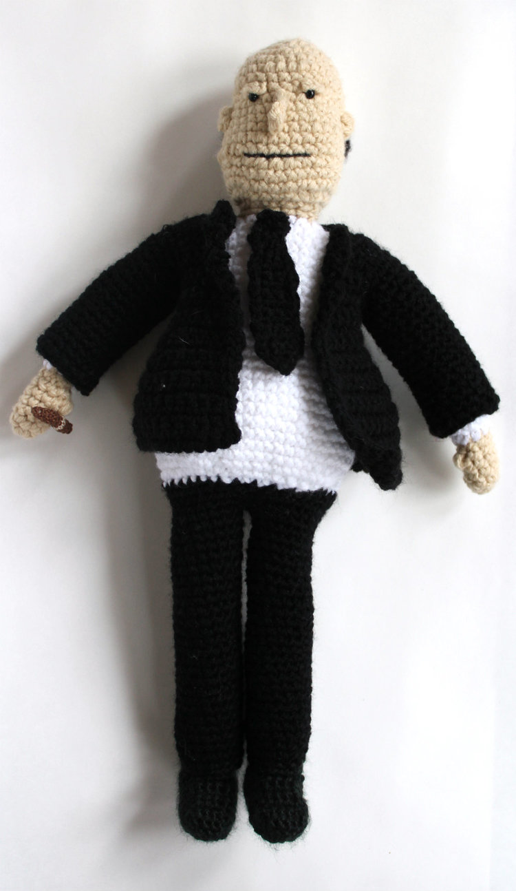 Alfred Hitchcock Crochet Full View