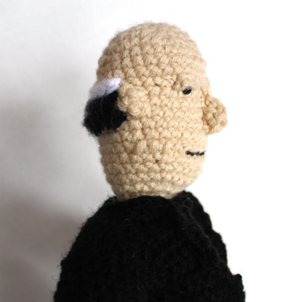 Alfred Hitchcock Crochet Side View
