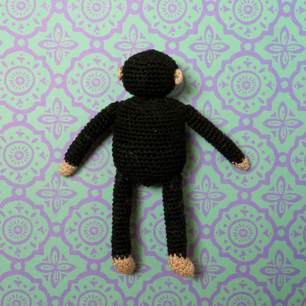 Back of Crochet Chimp
