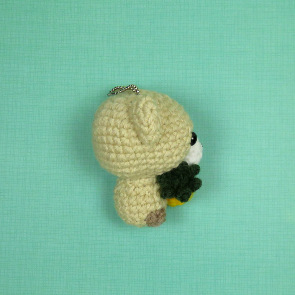 Cubbie the Baby Bear with Pineapple Pattern other side view