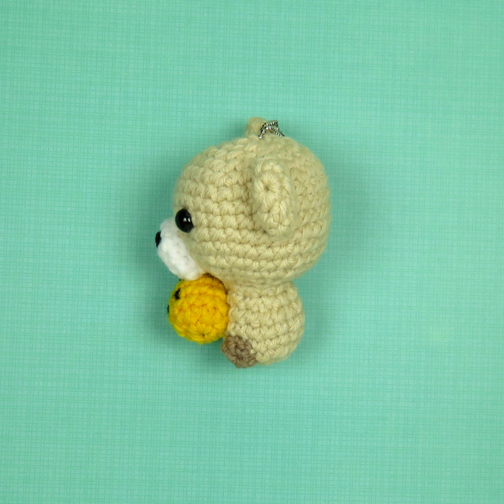 Cubbie the Baby Bear with Pineapple Pattern Side View