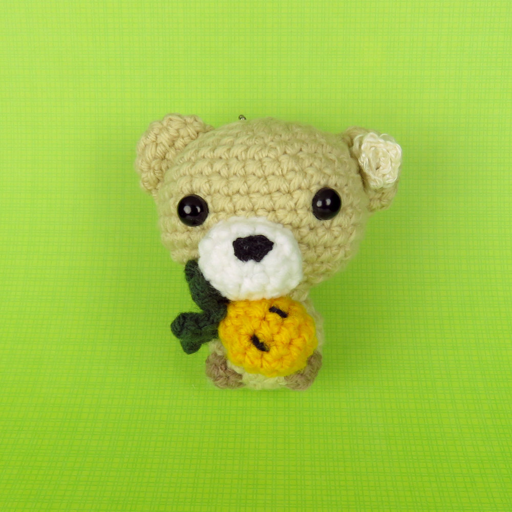 Cubbie the Baby Bear with Pineapple Pattern front view