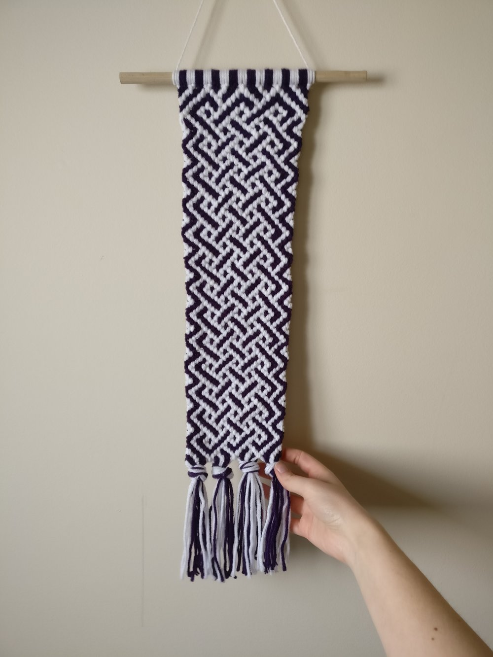 Wall Hanging purple and White