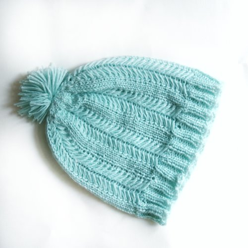 Mint Hat Knit