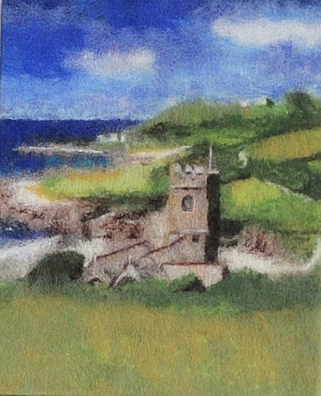 St Werburgh's Church, Wembury 40.5cmx51cm