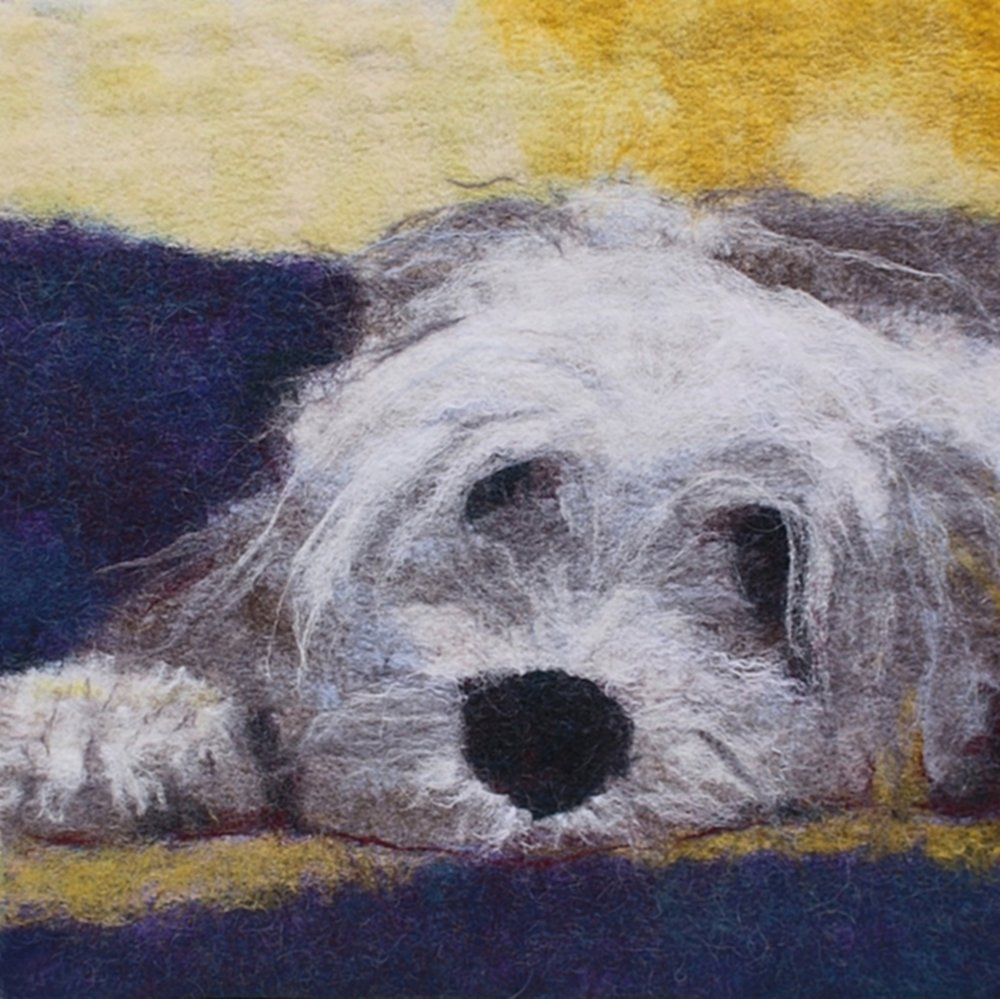 Monty the Bearded Collie 61cmx61cm