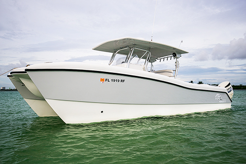 Big = Comfortable - Prowlers may be purpose-built fishing and diving boats, but they're also designed with versatility and crew comfort in mind. On the 31, that means a massive, unobstructed forward casting deck that can pull double-duty as a lounger for the sandbar or a bunk on overnight tuna trips; an available 12' x 8'6
