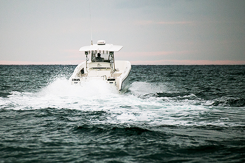 Exceptional Fuel Efficiency - As a result of state-of-the-art lightweight construction and patented running surfaces incorporating keel pads and unique lifting strakes, the 31 delivers higher speeds and more miles per gallon than competitive cats with equivalent power. With twin 300s, she tops out well into the 50s, and some owners report cruising efficiency of up to 1.8 mpg at 40 mph.