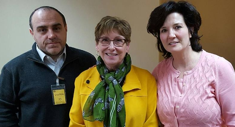 National Family Council CoChair, Ann Ceschin, and Tony Galbo with Wisconsin Health Services Secretary, Linda Seemeyer (center)