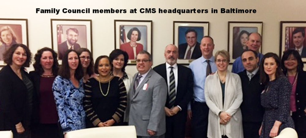 Council members meet with leaders at the Centers for Medicare & Medicaid in Baltimore, 2016