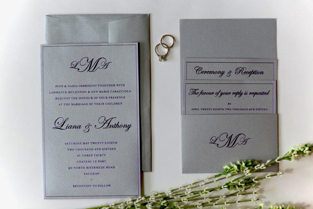 Custom Wedding Invitations   By Design Invitations   Toronto ...