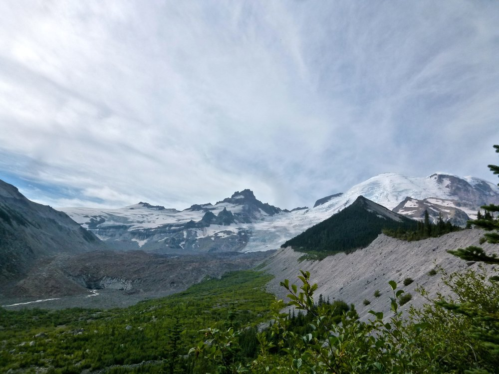 Emmons Glacier from the Emmons Moraine Trail, Mount Rainier. Photo Credit: Kristiana Lapo