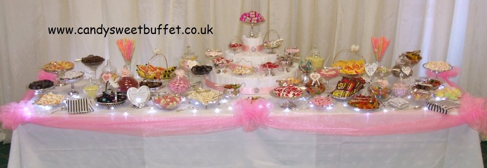 Wedding sweet shop - luxury sweets buffet table chesterfield