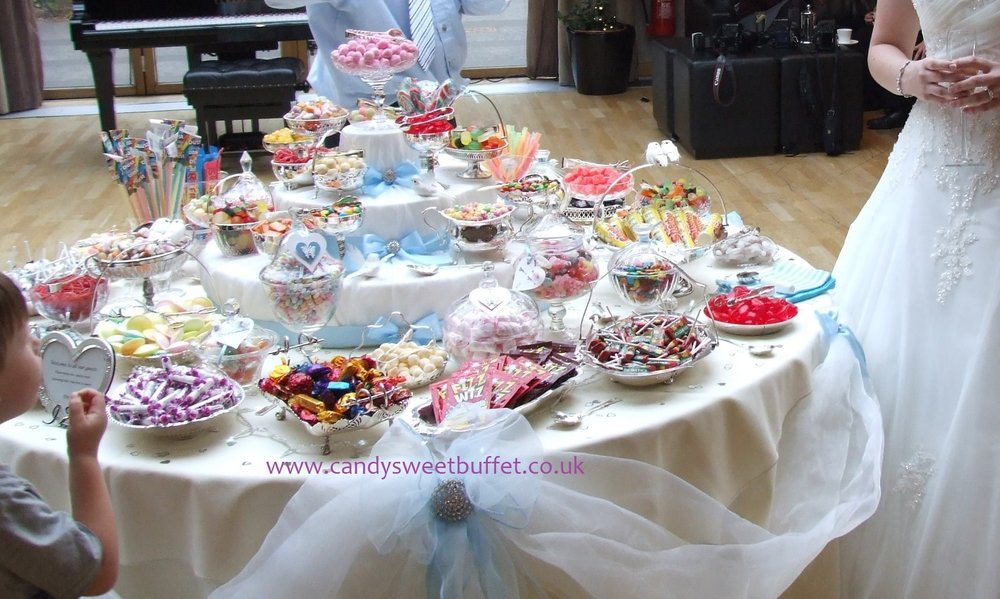 Wedding favours idea, Vintage Luxury Sweets and Candy Buffet table nottingham