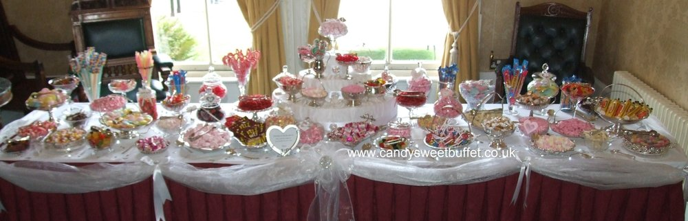 Wedding sweets candy luxury pick and mix table Nottingham