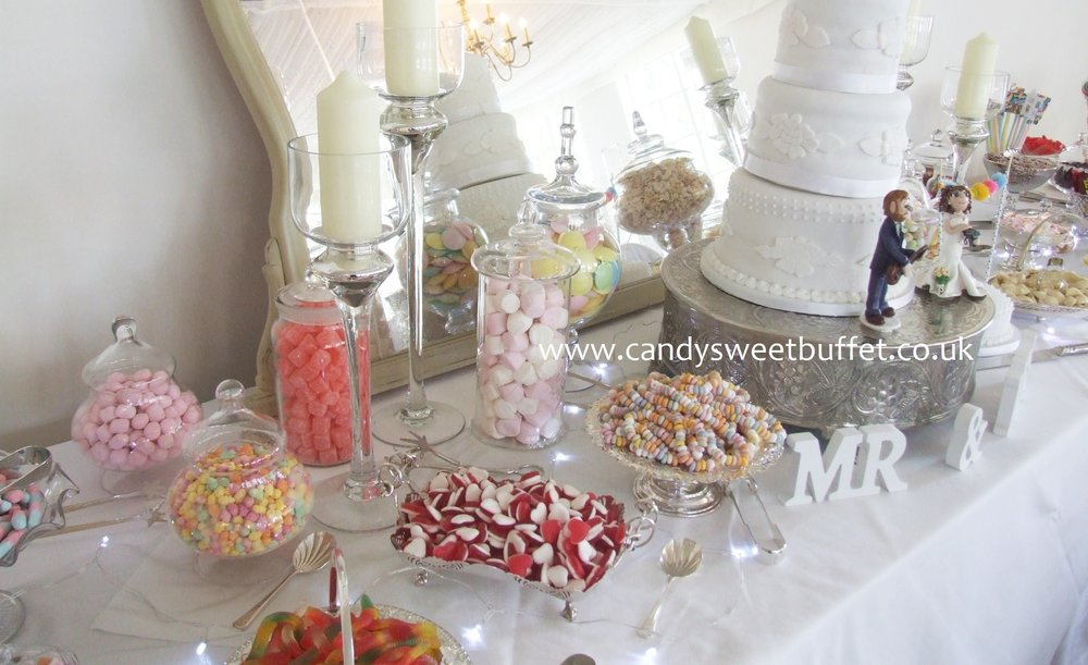 Unique luxury wedding sweets table Yorkshire, Derbyshire, Nottinghamshire, Leicestershire, East Midlands