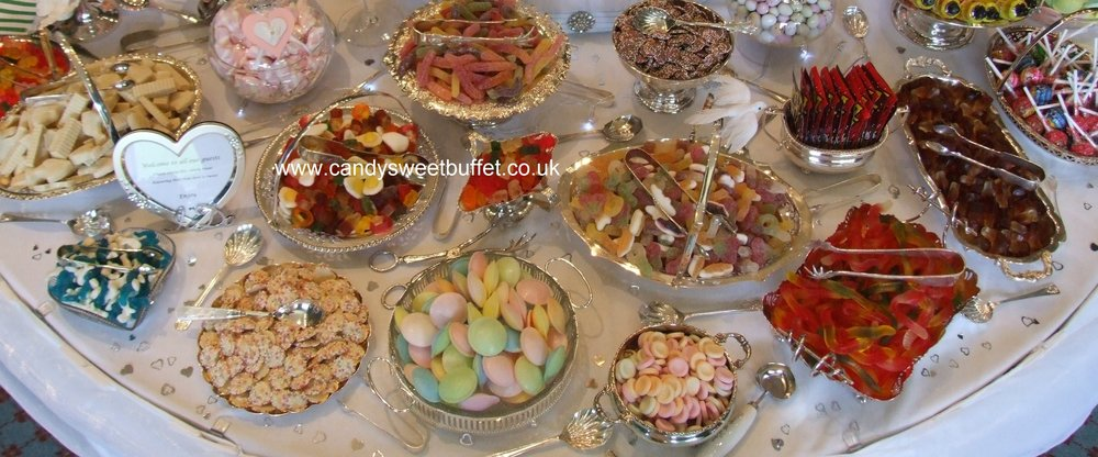 Vintage Wedding sweets and candy luxury buffet table hire with 30 varieties including chocolates, NO small candy sweets cart, use for unique wedding favours, best canapes or unusual entertainment, Halal and vegetarian sweets options, silver wedding, birthdays, any celebration, serving Nottinghamshire, Yorkshire, Lincolnshire, Derbyshire, Rutland, Leicestershire, West Midlands