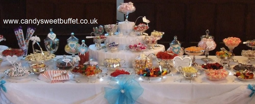 Wedding candy sweet buffet table Leeds, Nottingham, Chesterfield, Derby, all midlands