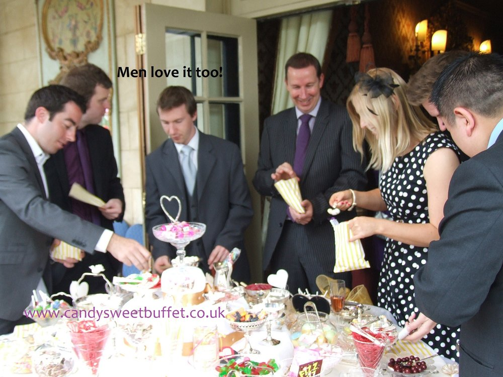Wedding sweets table at Coombe Abbey Coventry