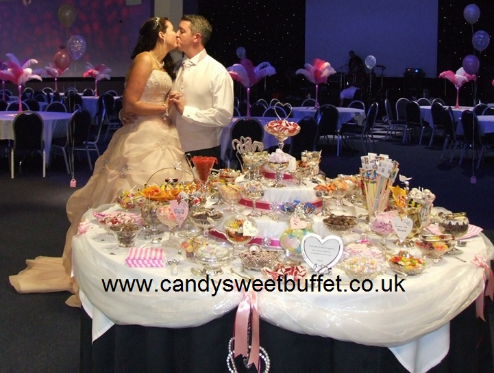 Wedding sweets table Nottingham - no small sweets cart