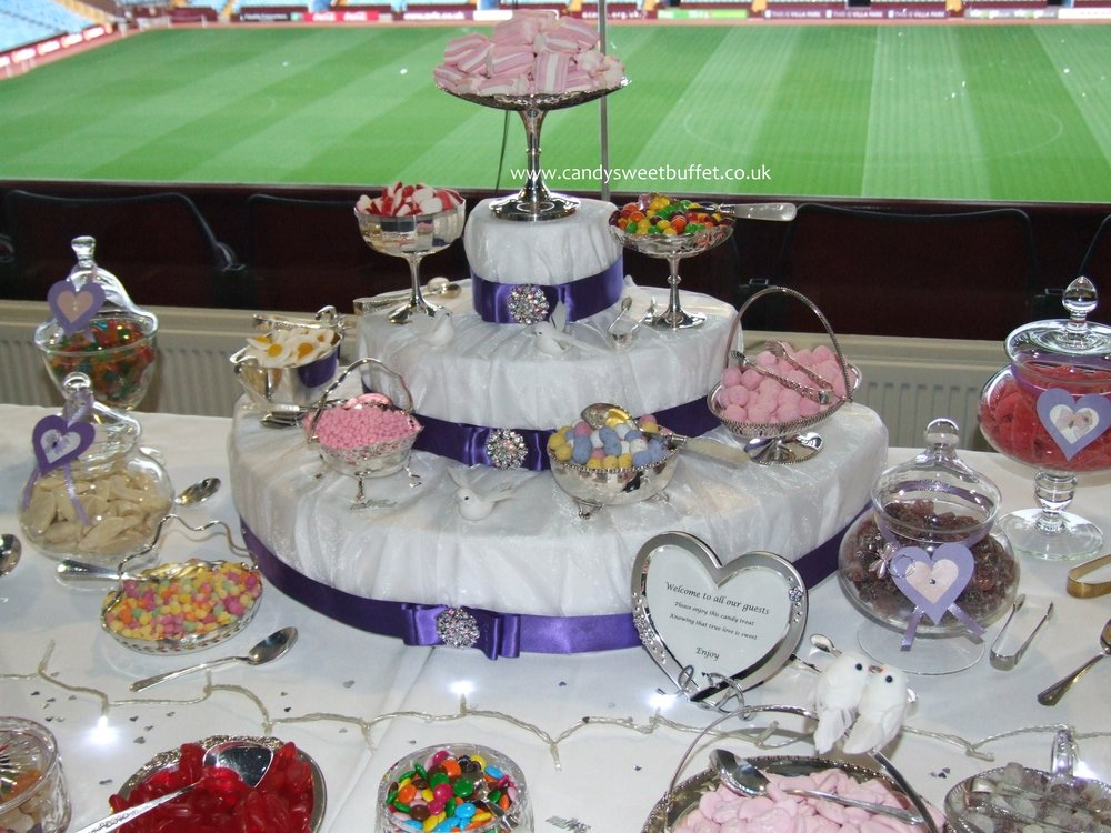Wedding sweet buffet table Aston Villa