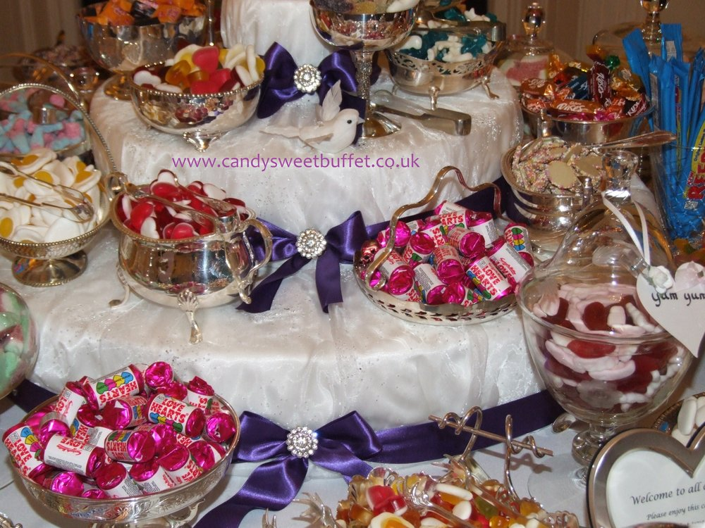 Wedding sweet buffet table Chesterfield, Derby, Leeds, Nottingham