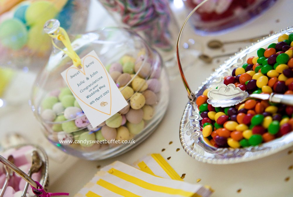 Vintage wedding sweets candy buffet table Midlands