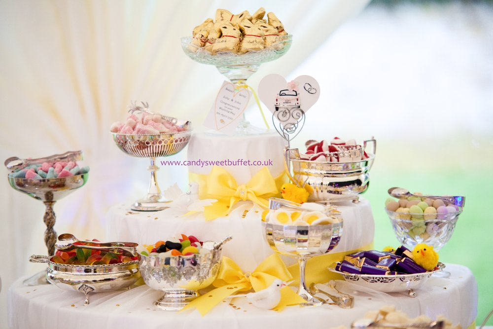 Wedding sweet table at Coombe Abbey Coventry