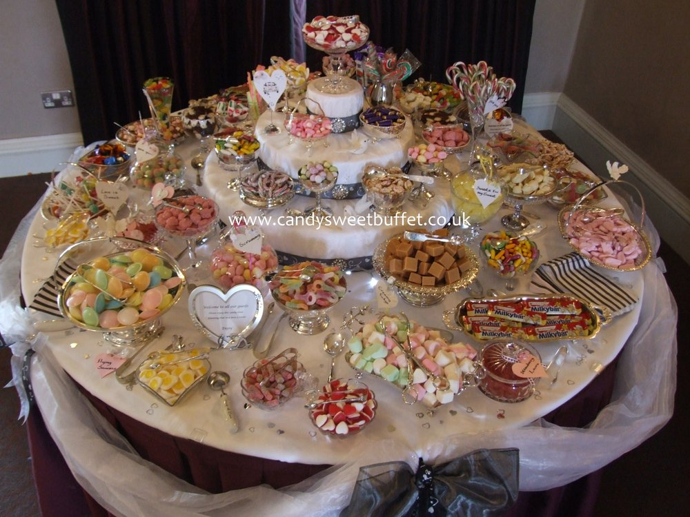 Wedding candy sweet buffet table - no small sweet candy cart, Midlands