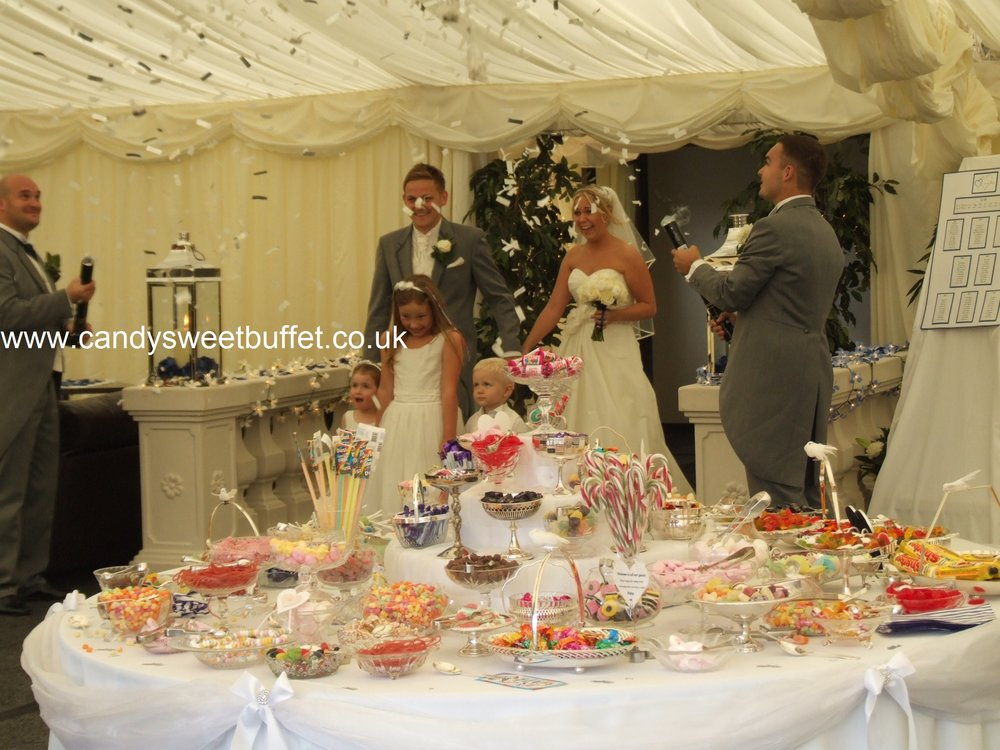 Wedding sweets buffet table nottingham
