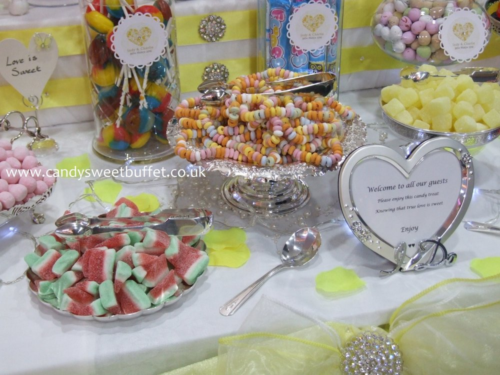 Wedding sweets candy buffet table Birmingham