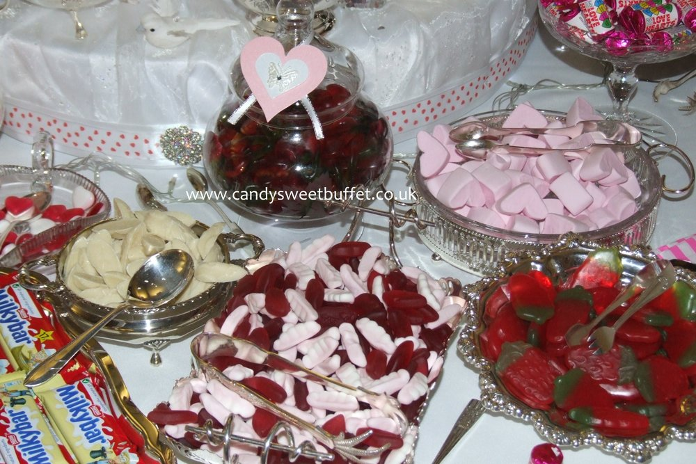 Wedding sweets table Worksop, Chesterfield, Barnsley, Midlands