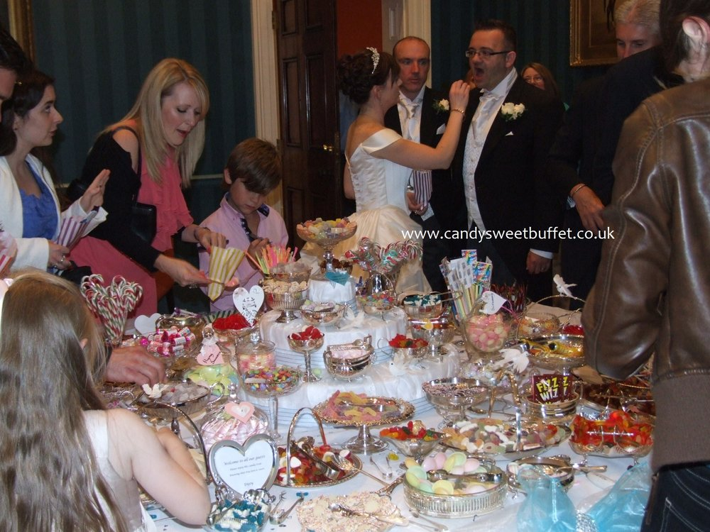 wedding candy sweet buffet table hire