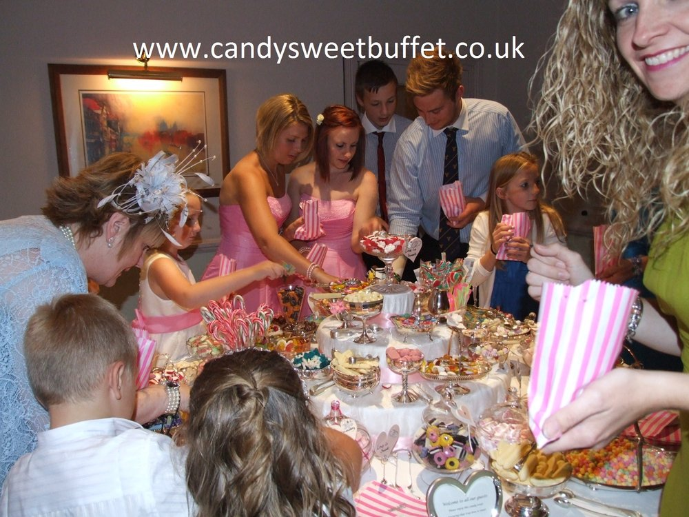 wedding sweets buffet table hire, midlands