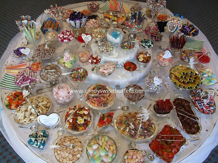 Wedding sweets buffet table at Rudding Park Hotel Harrogate
