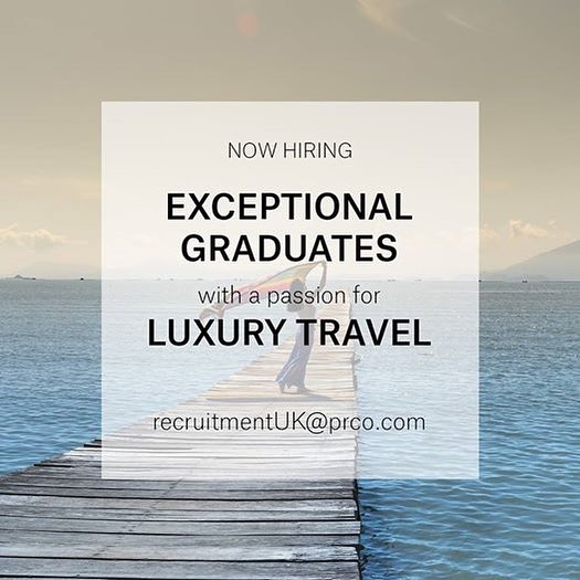 PRCO UK is on the hunt for a bright and enthusiastic graduate with a passion for luxury travel and lifestyle to join one of the travel teams in our PR agency in Belgravia, London.  This is a 6-month paid placement for the right candidate to be immersed into both the PR and hospitality industries and learn about the media landscape and the workings of a hotel press office.  The ideal candidate will be: • A recent graduate or someone looking for a career change • Passionate about the travel industry • Interested in print, digital and social media • Organised, proactive and eager to learn • Confident, friendly and energetic
