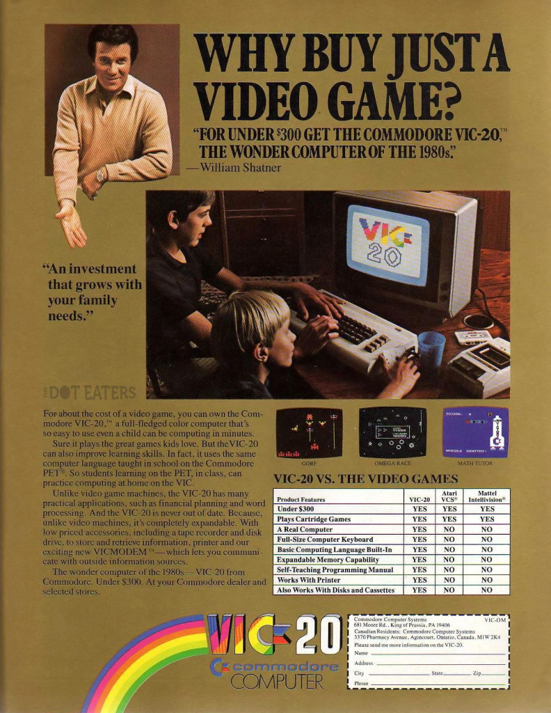 One of the first computer ads from the early 80s, it exclusively featured men and boys both promoting and using the product.