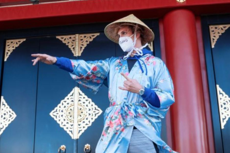 Paul posing in the traditional Japanese garment, the Kimono, while in Japan in 2017.