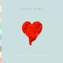 Album cover for  808s & Heartbreak  by Kanye West.