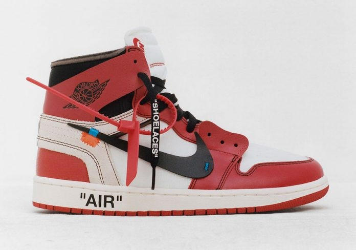 The deconstructed Off- White X Nike Air Jordan 1 has become one of the most popular shoes of the year, designed by Abloh. (Courtesy of  NIKE )