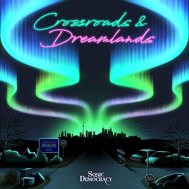 Crossroads & Dreamlands, available June 8th, 2018!  #bigannouncement #musicbusiness #music #musictheory #livemusic #musicindustry #workinghard #lightshow #harmonies #vocalist #guitarist #bassist #drums #piano #musician #instagram #songs #songwriter #sonicdemocracy #crossroadsanddreamlands